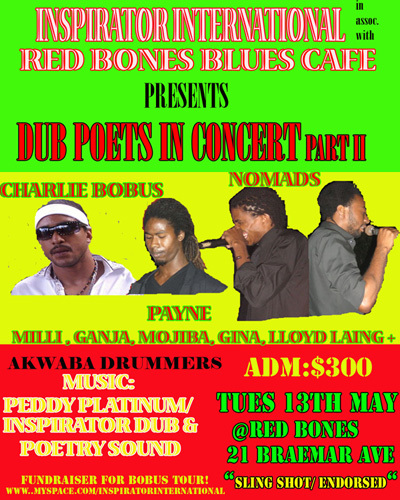 Dub Poets show May 13