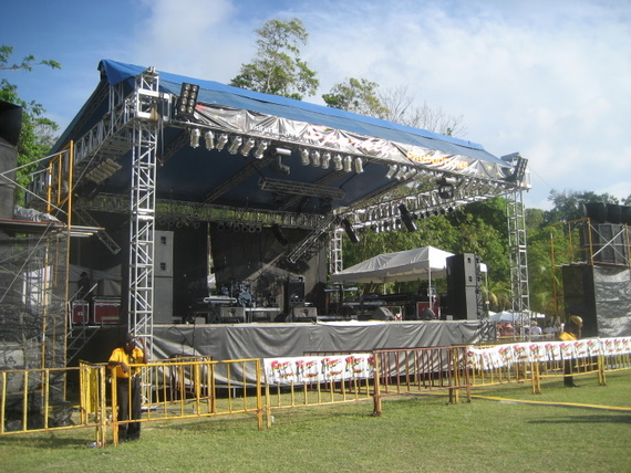 A serious stage