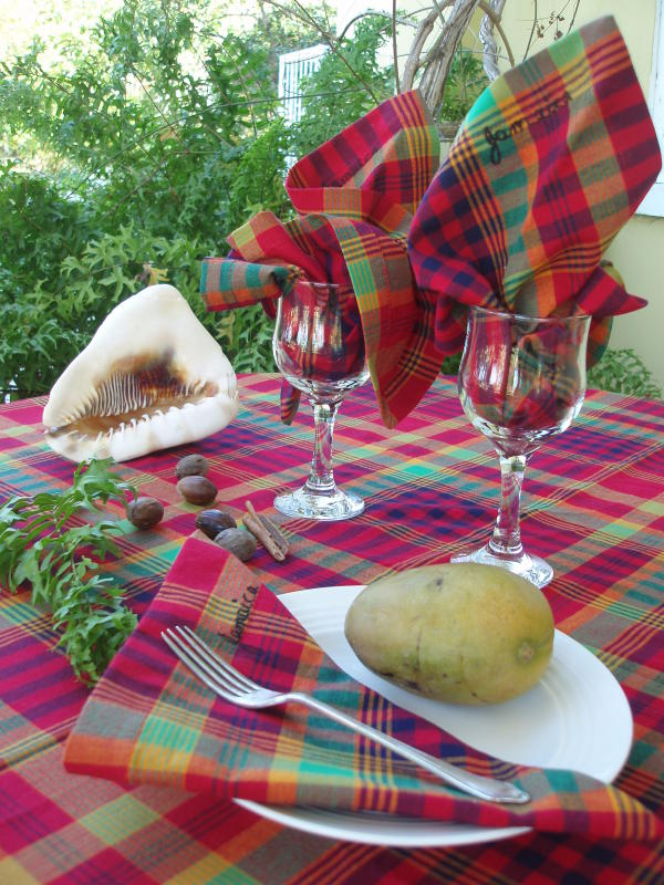 Bandana table cloths and napkins