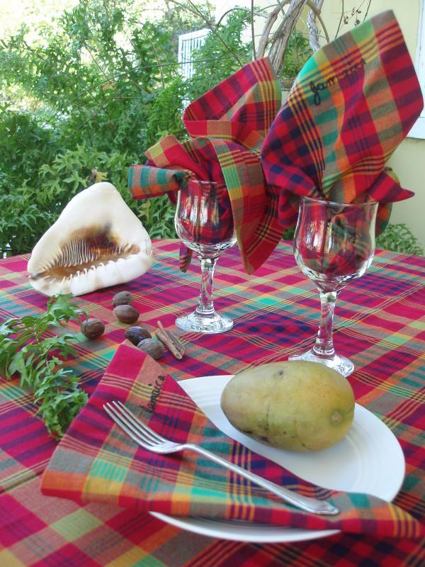 Bandana table cloths and napkins
