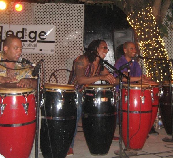 Cuban drummers at KOTE 08