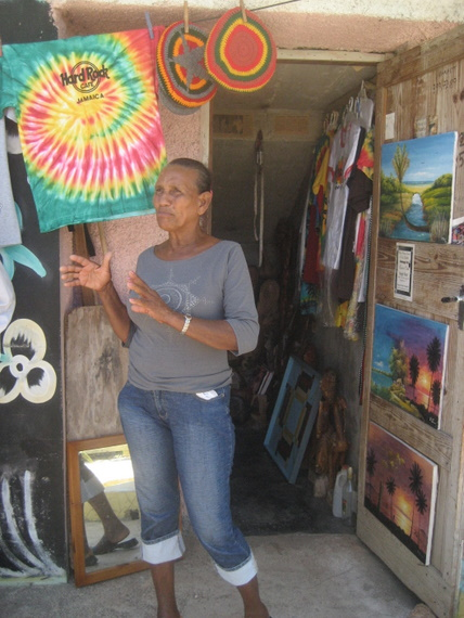 One of the vendors in Treasure Beach