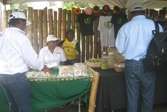 Vendors in the craft village