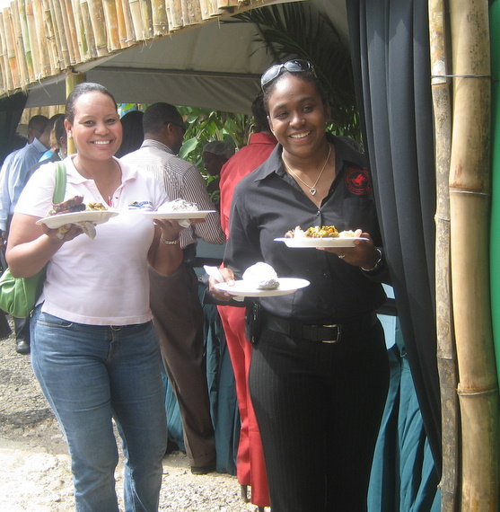 Chukka Tours reps sampling the local cuisine