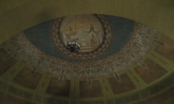 The ceiling above the altar