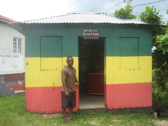 Gift shop in Accompong