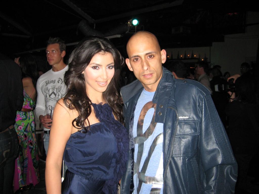 DJ EdSki with Kim Kardashian