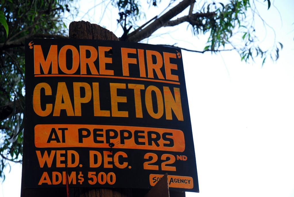 More Fire, Capleton sign