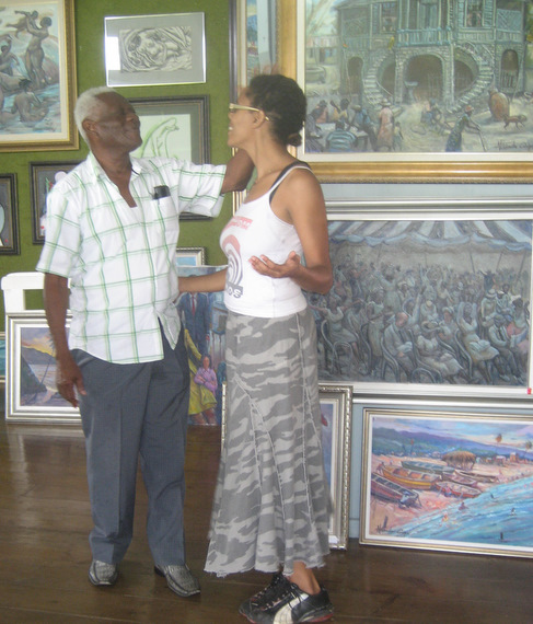 Alexander Cooper and Dominique Brown at Mr. Cooper's Gallery