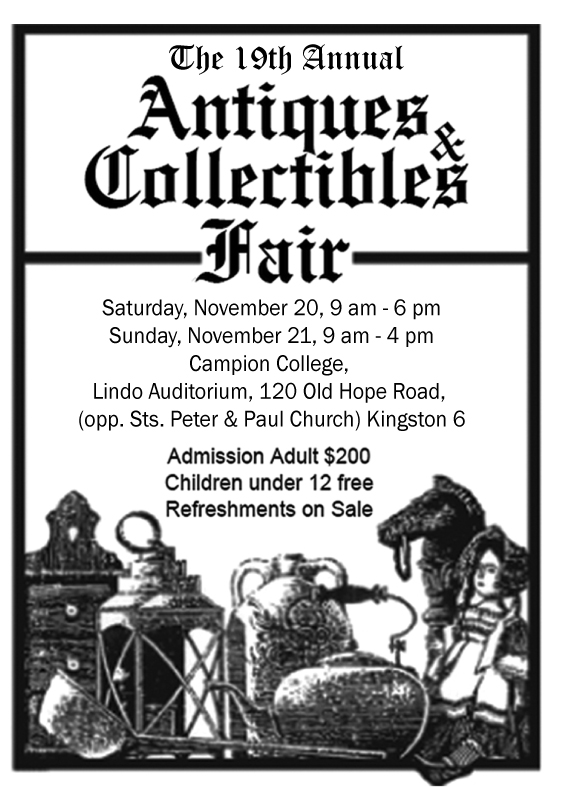 Antiques Fair letter sized flyer