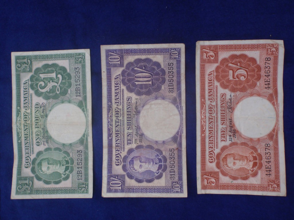 Old Jamaican notes
