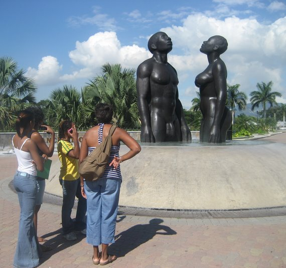 Starting off at Emancipation Park, New Kingston with Laura Facey-Cooper's Redemption Song