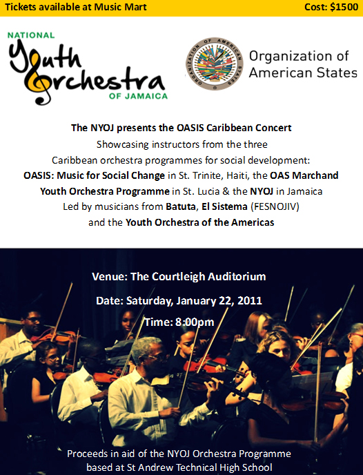 NYOJ Oasis Concert Flyer Jan 22