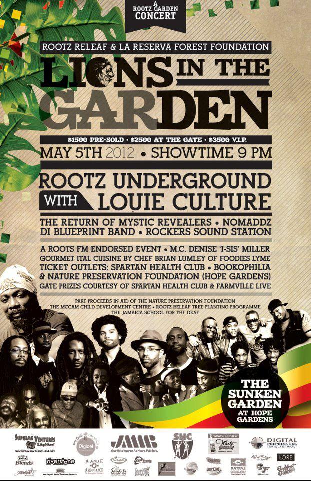 Rootz underground in concert saturday at hope gardens yardedge rootz underground malvernweather Images