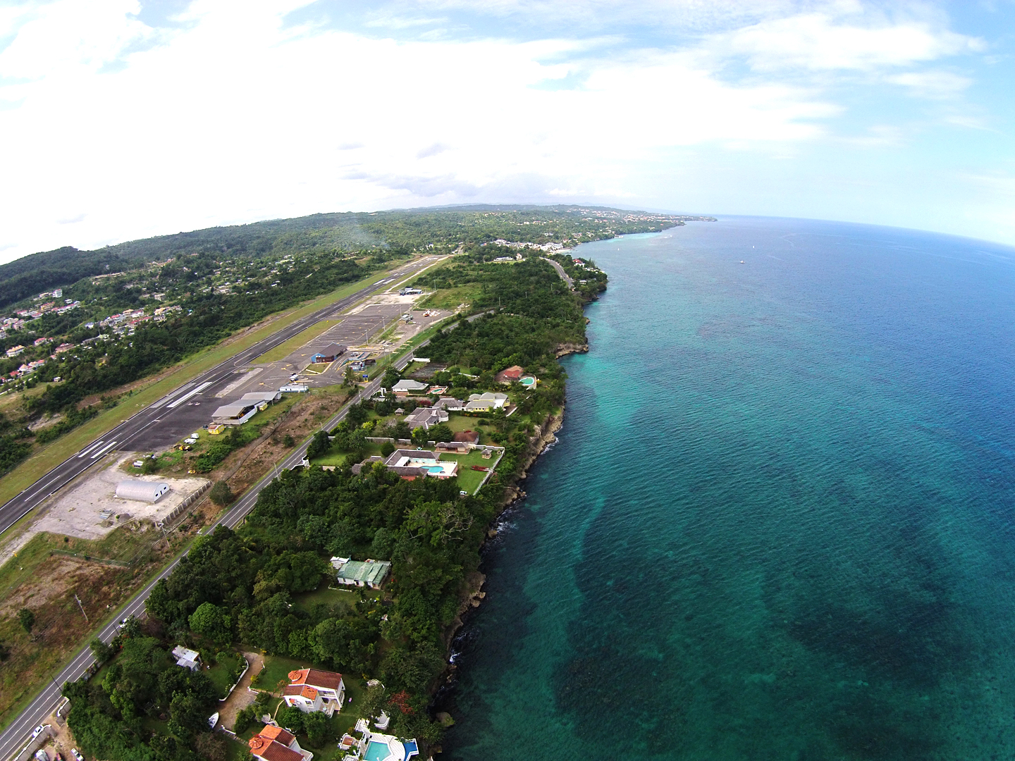 Ian Fleming Airport looking west