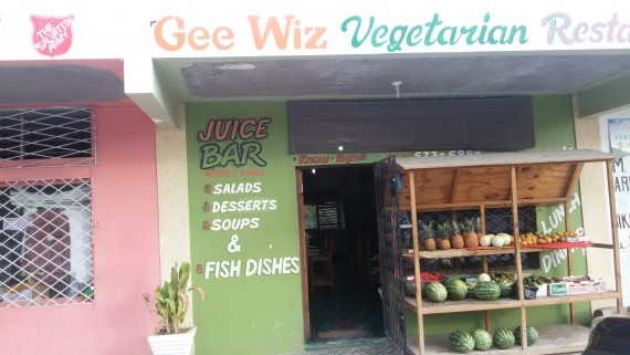 Gee Whiz Vegetarian Restaurant, Treasure Beach, Jamaica