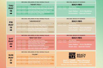 Tmrw.Tday Wellness Schedule