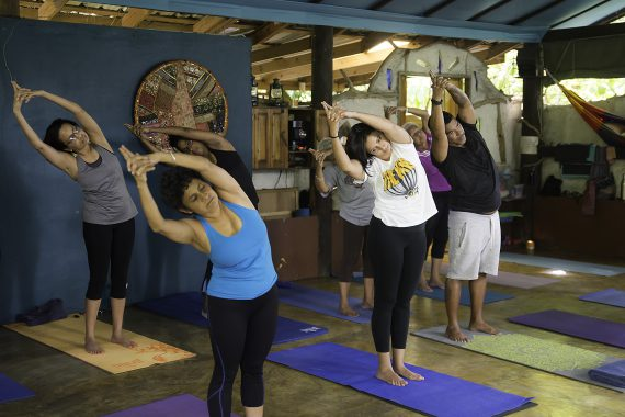 Yogis at Live Well, Eat Right, Walk Good - the yoga practice