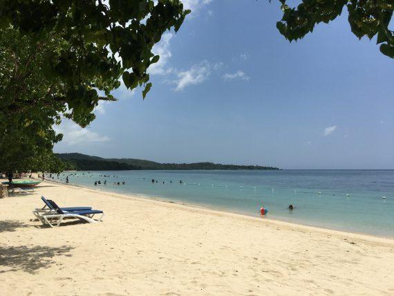 The beach in Bluefields, Jamaica