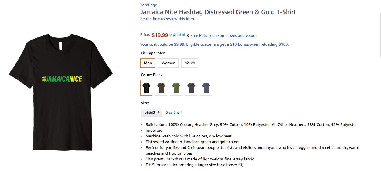 Jamaica Nice T Shirt